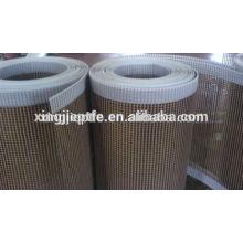 shrinking machine for garment fabric with PTFE Coated Fiberglass Open Mesh Conveyor Belt