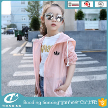 Newest Design Fashion comfortable girls trench coat