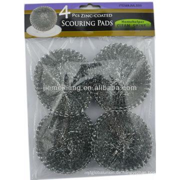 Silberne Reinigungswäscher-Maschenreinigungskugel, Metall-Scourer, Mesh-Scourer