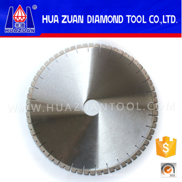 Lâmina de serra de segmento de diamante em forma de U de 400 mm, lâmina de serra circular de diamante de corte de borda de pedra de granito