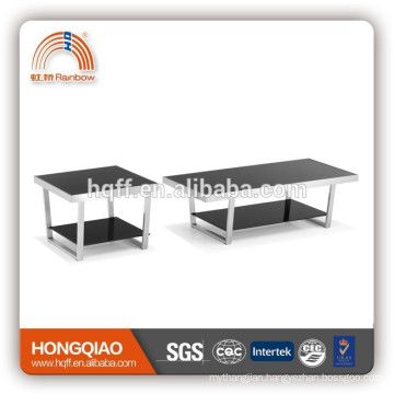 T-07glass top coffee table stainless steel coffee table modern design coffee table