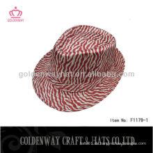 Mode-Streifen-Muster Trilby / Fedora-Hut