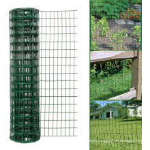 Green PVC Coated Galvanised Steel Wire Garden Fencing Roll Hole Spacing 10.16cm X 5.08cm