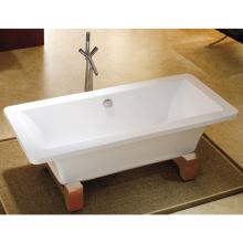 "66"" CE Cupc Hot Sale Latest Acrylic Freestanding Double Slipper Pedestal Tub"