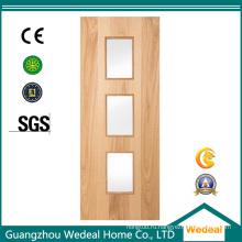 Производство внутренних твердых деревянных дверей из шпона в высоком качестве