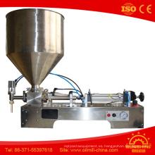 Máquina de llenado de pasta de un solo cabezal Máquina de llenado de aceite de oliva de cacahuete