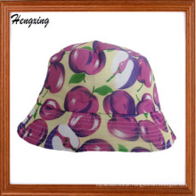 Beautiful Apple Printed Cotton Canvas Bucket Hat