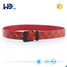 Custom pu belt with pin buckle for men