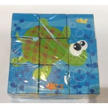 9pcw Wooden Six Sides Puzzle Blocks for Kids and Children