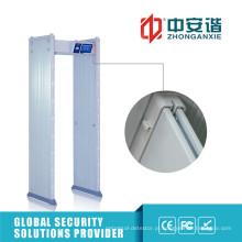 24 zonas de detecção 100 nível de segurança Oudoor Door Frame Metal Detector