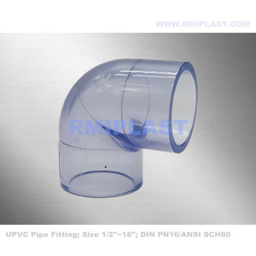 Coude PVC transparent SCH80