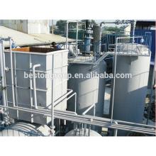 Planta de procesamiento de aceite de pirólisis de neumáticos de desecho de fabricación líder con CE ISO.
