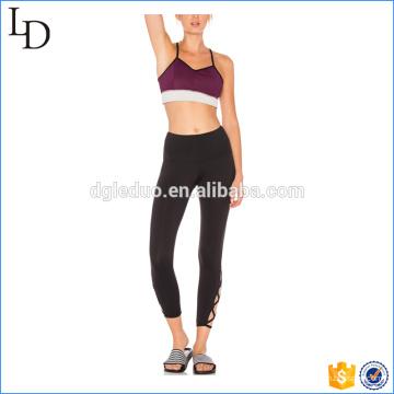 Ternos de yoga de moda personalizado impresso senhoras de aptidão