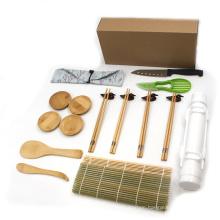12 Pcs Kitchen Set Home Diy Easy Use Best Bamboo Sushi Making Kit With Bazooka