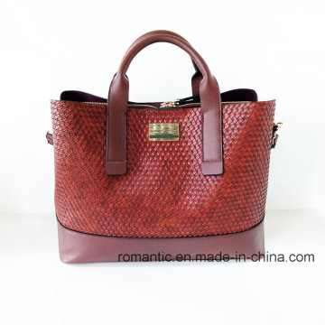 Дизайнер бренд женщин мода тиснением ПУ портфель (НМДК-052205)
