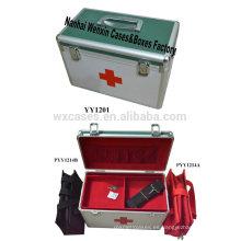 Nuevo estilo de caja de primeros auxilios de aluminio puede sostener 2 bolsas médicos dentro (excepto carga)