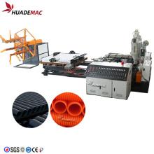 Máquina de línea de extrusión de tubería corrugada de doble pared de 50-200 mm