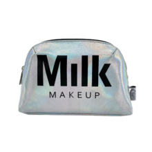 Fashionable Shell Makeup Bag Laser Cut Cosmetic Bag Silver RPET PU Cosmetic Pouch