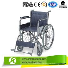 Cadeira de rodas estilo europeu econômica com rodas grandes