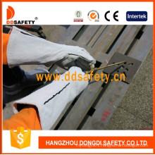 Grey Cow Split Welding with Reinforced on Palm Glove Dlw646