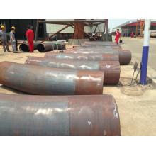 Curva de tubulação de aço X52 de aquecimento por indução de média frequência