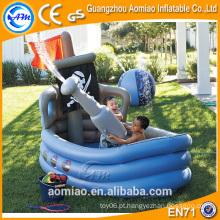 Custom barco em forma de piscina inflável profunda banheira de hidromassagem para crianças