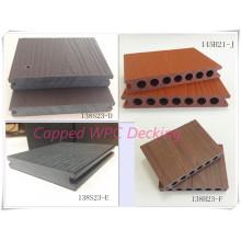 Cubierta antidesgaste gruesa WPC 23mm Nueva superficie de madera protegida con zócalo