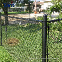 metal frame type PVC coated galvanized chain link fence for protection