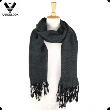 Men′s Acrylic Checked Scarf Wrap with Fringes