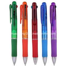 G6070 Stylo à bille multicolore promotionnel avec 4 couleurs