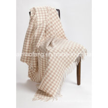 Woolen Fringed Virgin Wool Tarvel Throw (NMQ-WT045)