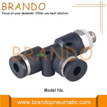 Αρσενικό Run Tee Push In Miniature Pneumatic Fittings