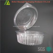 Klare transparente Klappe Plastik große Salatbox