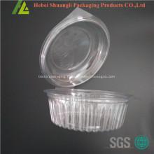 Boîte à salade en plastique à clapet transparente transparente