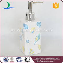 YSb40033-02-ld 2015 hot sale seashell ceramic Bath Accessory lotion dispenser