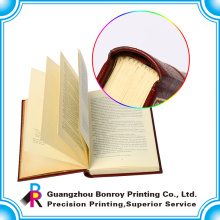impresión de libro de tapa dura trasera cuadrada con laminación UV y mate