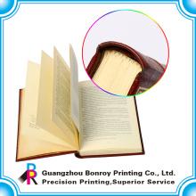 impressão traseira do livro de capa dura do quadrado com laminação UV e matte