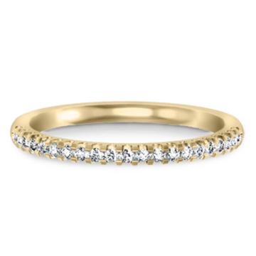 Gold über 925 Sterling Silber Schmuck Ring Band mit CZ