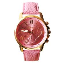 Relógio de couro das senhoras do relógio das mulheres