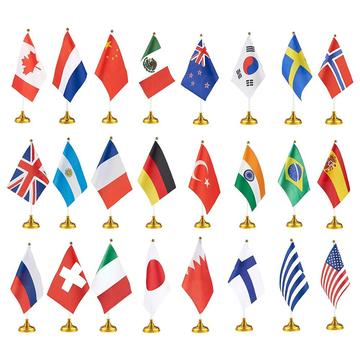 Custom Design Logo Niedrigster Preis National Table Flag