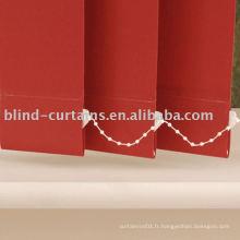 Tissu rouge store vertical