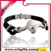 Hand made custom stainless steel unique bracelets for men