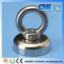 Der Super N52 Neodym Eyebolt Circular Rings Pot Magnet