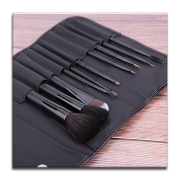 Lot de 10 pinceaux de maquillage noir