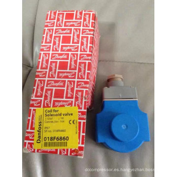 Bobina de la válvula de solenoide de Danfoss (018F6860)