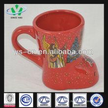 m049 Ceramic Red Christmas Mugs Cheap