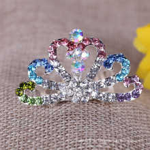 Mode Kinder Crown Strass Tiara Kamm