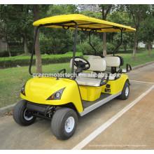Четыре колеса Электрический автомобиль гольфа для двоих