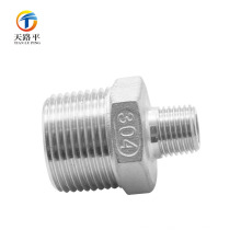 Alta calidad 304 Flare Male Thread Pipe Straight Connector Flared Fitting
