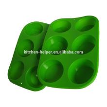 Hot Selling LFGB FDA padrão de máquina de lavar louça Safe Non-stick Food Grade Silicone Baking Muffin Pan Silicone Bakeware Muffin Pan